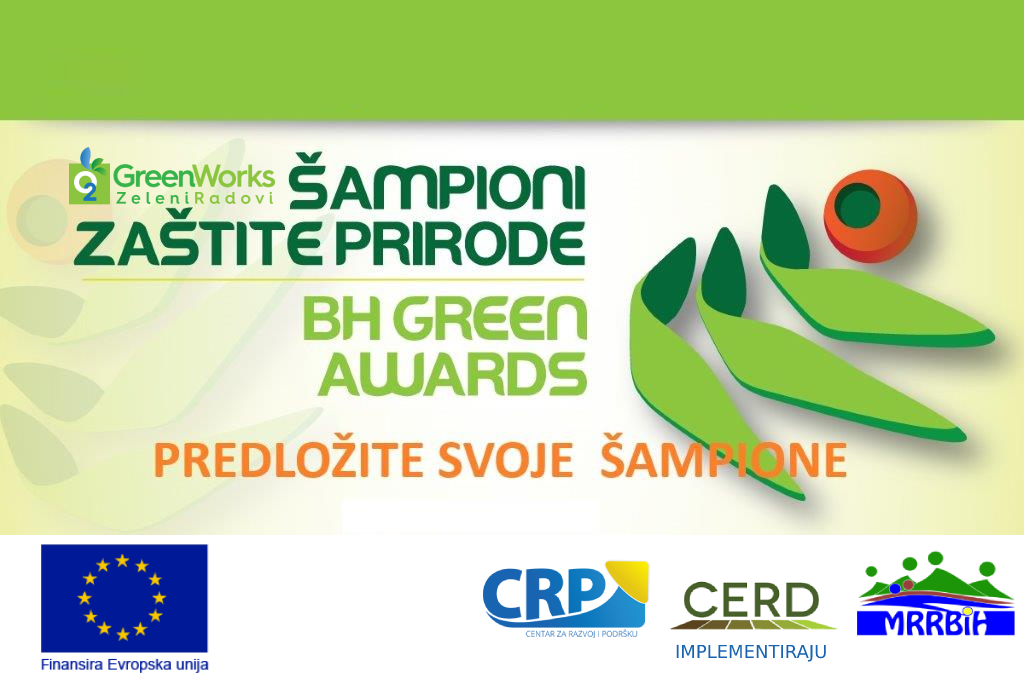 ŠAMPIONI ZAŠTITE PRIRODE – BIH GREEN AWARDS 2021.